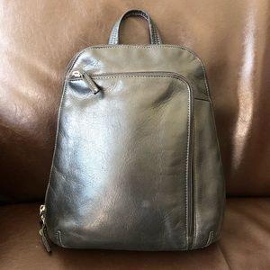 Black leather Tignanello backpack